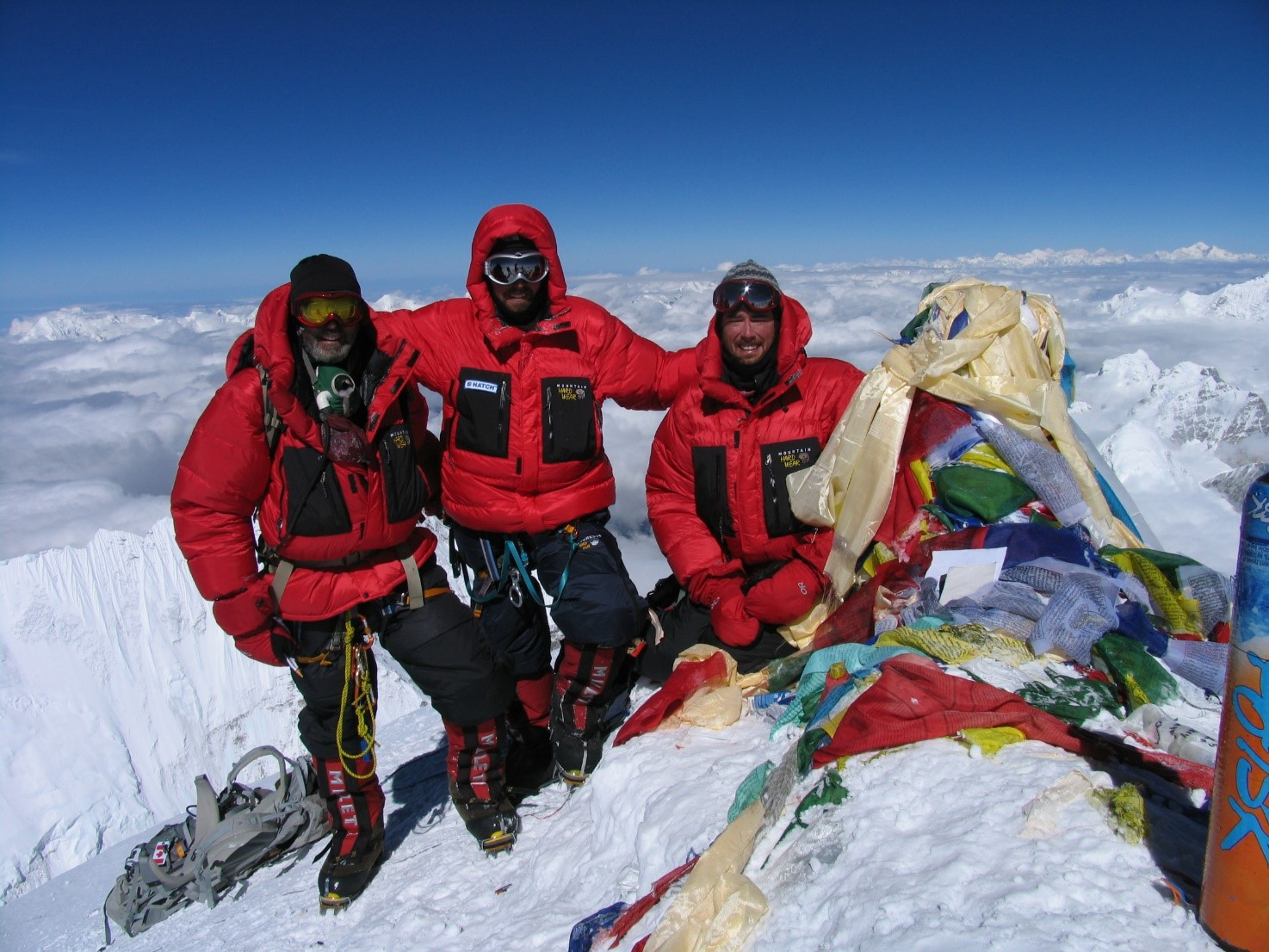 Summit of Everest compressed