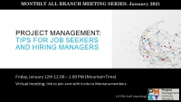 PMI MT All Branch Meeting Series Jan - May 2021