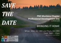 PMI Montana Chapter Professional Development Day #1